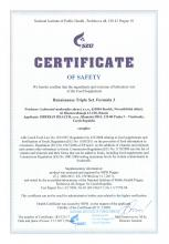 Certificate of safety<br>Renaissance Triple Set. Formula 3 Food supplement Natural Antioxidant Formula 3, 120 capsules